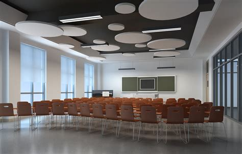 Suspended Ceiling Styles by Classroom Suspended Ceiling Design 3d House