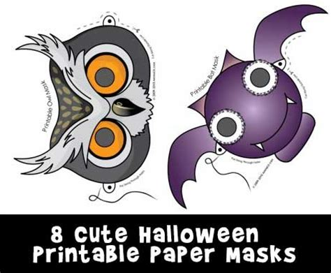 printable paper halloween masks cute printable halloween animal paper masks woo jr