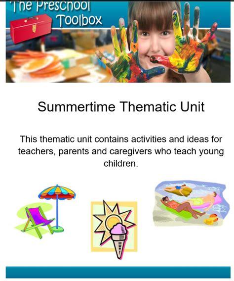 summer theme for preschool the summer theme for preschool and kindergarten the