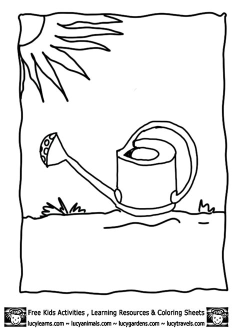 coloring page watering can watering can coloring page coloring home