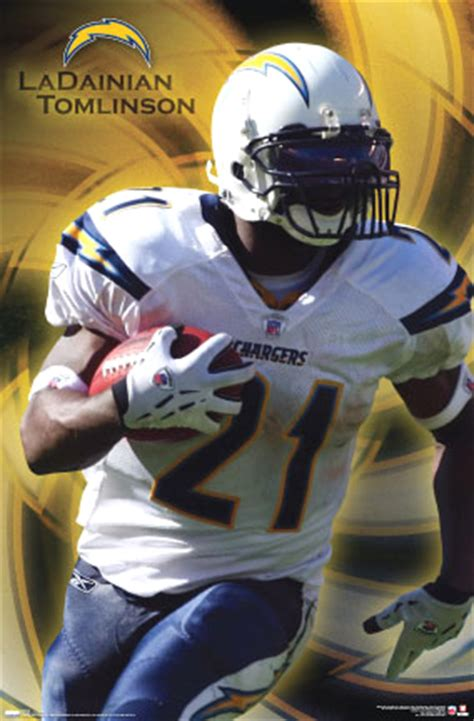 san diego chargers c 31 ladainian tomlinson san diego chargers football poster