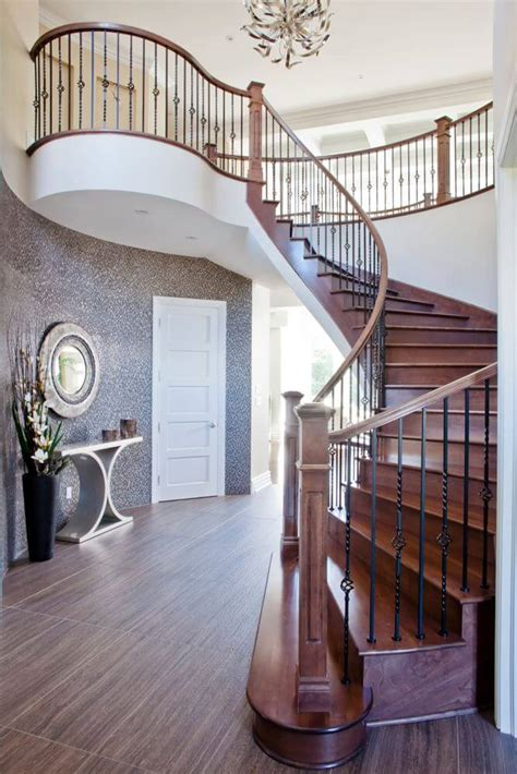 Metal Landing Banister And Railing 199 Foyer Design Ideas For 2018 All Colors Styles And Sizes