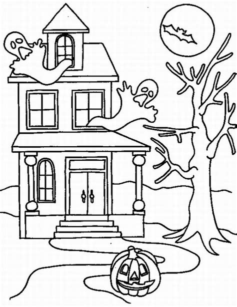 coloring pages haunted house halloween halloween colorings