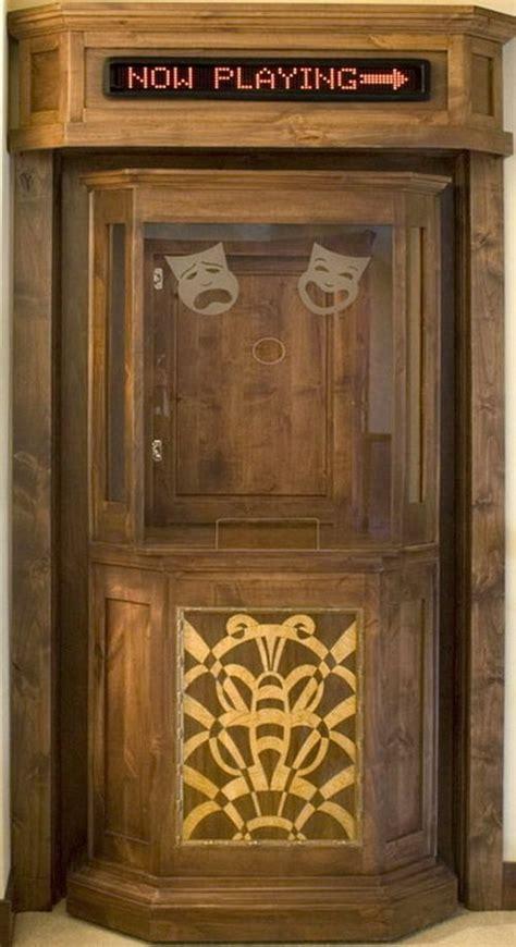 creative concept home theater ticket booth door