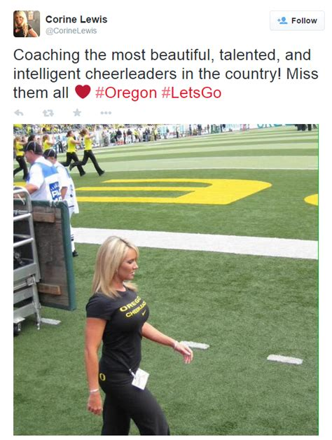 coach lewis you made such an impact on the whole team oregon ducks cheer coach becomes