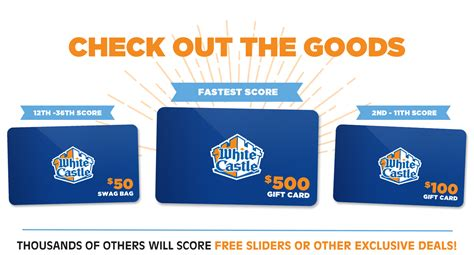 White Castle Gift Card Balance - white castle gift card 28 images white castle gift cards free redbox discount