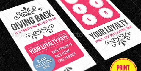 20 Free And Premium Loyalty Cards Templates Design Designmodo Loyalty Card Template