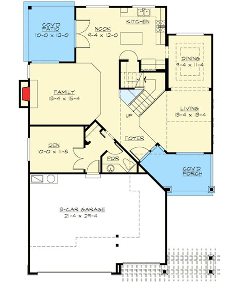 Spacious House Plans by Spacious House Plan In Two Sizes 23028jd Architectural