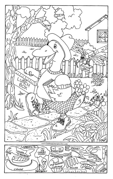 printable hidden pictures free coloring pages of find the hidden objects