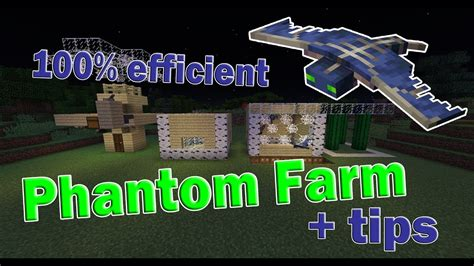 simple phantom farm afk  minecraft youtube