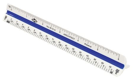 Alvin 610a Architects Scale Plastic by Alvin 6 Inch Plastic Triangular Scales