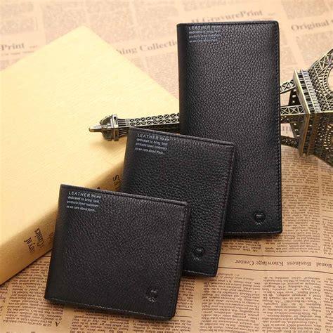 Promo Dompet Kartu Atau Card Termurah kualitas tinggi pria kulit asli bifold dompet kas kartu pengemudi lisensi pemegang pria slot