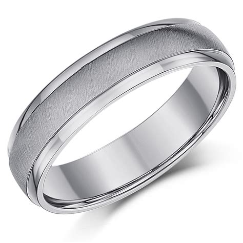 5mm Wedding Ring by 5mm Titanium Matt Polished Wedding Ring Band Titanium