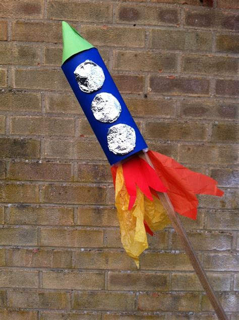 Handmade Rockets - rocket firework bonfire toilet roll rocket