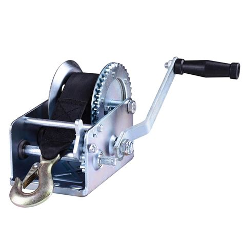 boat winch cable installation 2000lb heavy duty hand manual winch boat marine winch