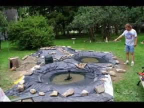 Backyard Pond Kit Water Garden Construction Youtube
