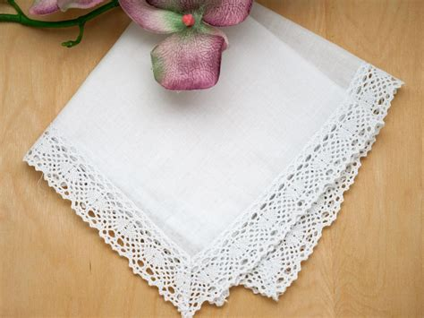 Promo One Set Lace Termurah set of 3 honeycomb lace handkerchiefs
