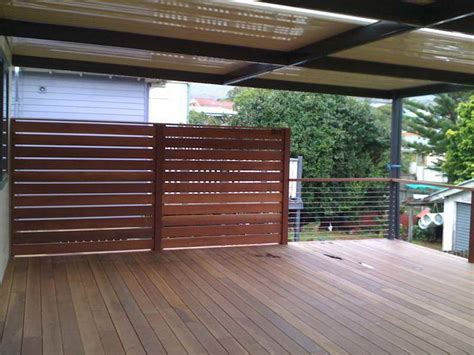 Screen Ideas For Backyard Privacy by Outdoor Woodenn Deck Outdoor Privacy Screen Ideas
