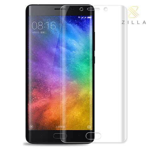 Tempered Glass Xiaomi Mi6 3d Curved Glass zilla 3d tempered glass curved edge 9h 0 26mm for xiaomi mi note 2 transparent