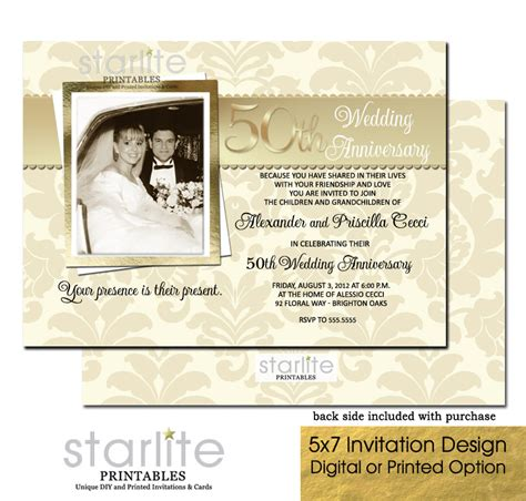 50th anniversary invitations templates 50th wedding anniversary invitation photo 50th wedding