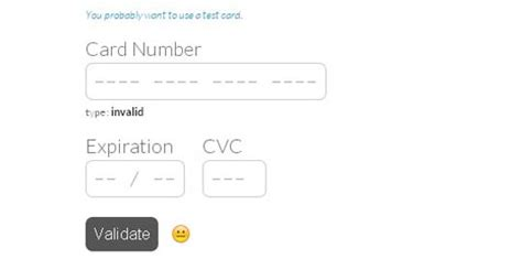 Format Credit Card Number Javascript 5 Free Jquery Credit Card Form Plugins And Validators Designbeep
