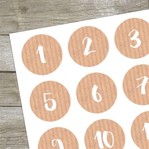 Aufkleber Zahlen by Aufkleber Adventskalender Zahlen Zahlensticker Miomodo