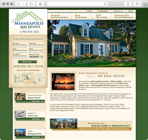 minneapolis mn real estate website design