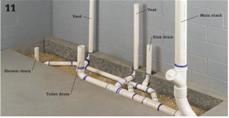 slab plumbing diagram images