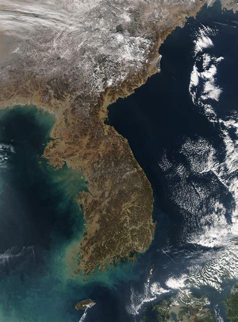 nasa visible earth korea