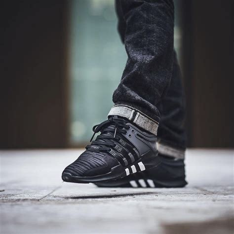 Adidas Eqt Support Adv Black White Premium Quality adidas originals black eqt support adv sneakers 187 petagadget
