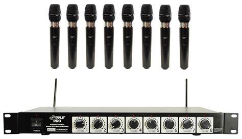 Mic Aiwa 16 Wireless Uhf Profesional pyle pro pdwm8400 8 mic professional handheld