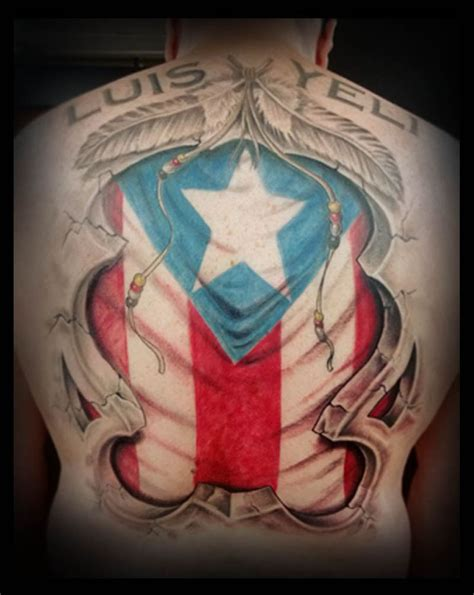 puerto rican flower tattoo flag designs