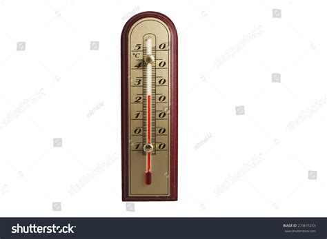 style thermometer isolated on white stock photo
