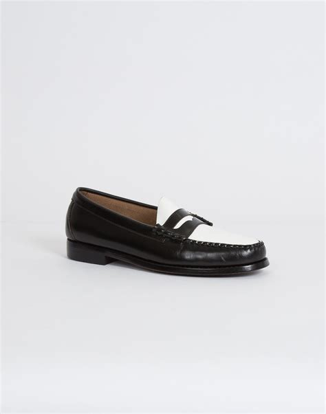 black white loafers g h bass co g h bass weejuns two tone loafer