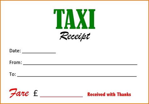 taxi cab receipt template taxi bill format in word template sle