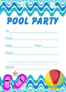 printable pool invitation