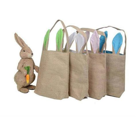 Rrrribbit In My Bag by Easter Bunny Bag For Shipping To You Burlap By