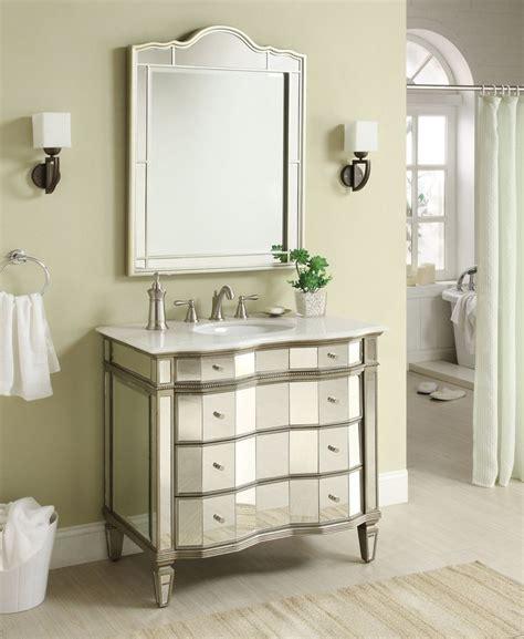 adelina 36 inch mirrored bathroom vanity meets