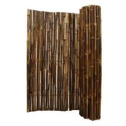 home depot bamboo fencing backyard x scapes 1 in d x 3 ft h x 8 ft w black rolled
