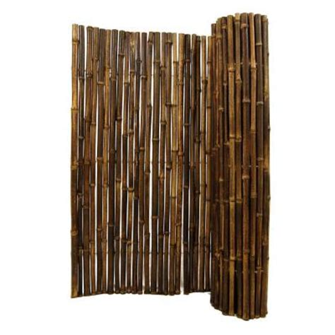 Bamboo Fence Roll Home Depot backyard x scapes 1 in d x 4 ft h x 8 ft w black rolled