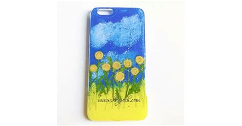 fresh blue sky sunflower phone cases  iphone xr xs max      case clear pressed
