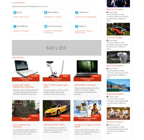 classified ads html template ads clarity classified ads software