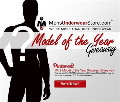 model of the year pinterest giveaway by mensunderwearstore men and underwear - Free Mens Underwear Giveaway