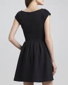 plenty cap sleeve print panel dress