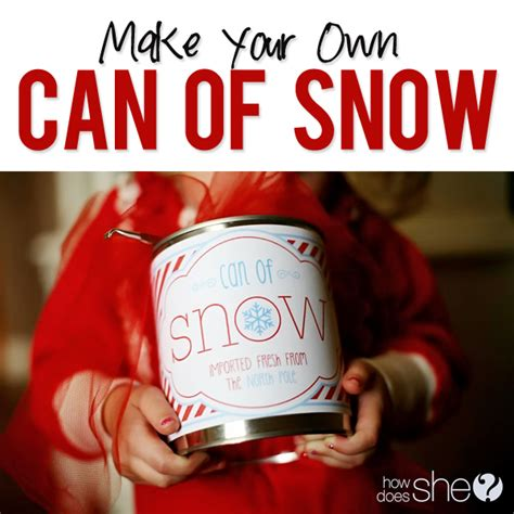 can of snow recipe and printable allcrafts free crafts
