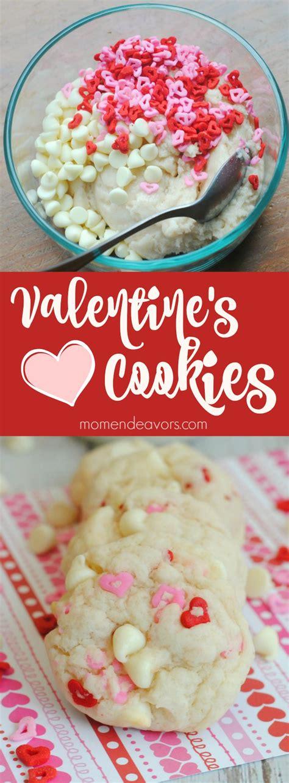 valentines cookies recipe easy easy white chocolate chip valentine s cookies