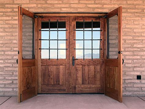 Barn Style Front Door Rustic Style Entry Doors Rustic Doors With Security Grills Wgh Woodworking Windows