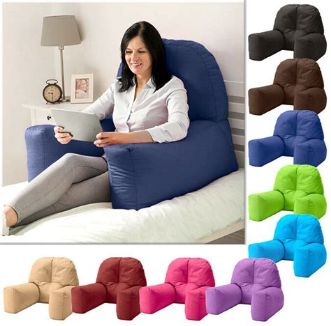 bed reading bean bag cushion arm rest back support pillow rest tv lounger ebay