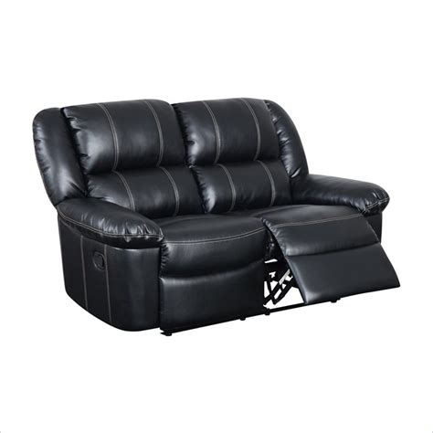 rocking reclining loveseat cortez rocking reclining loveseat in red bonded leather