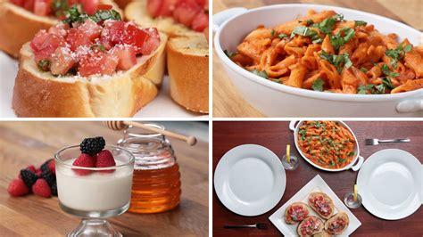 easy course for dinner 3 course italian dinner
